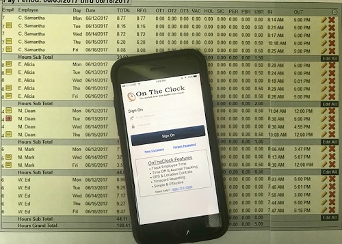 a mobile friendly way to track employees time ontheclock time clock