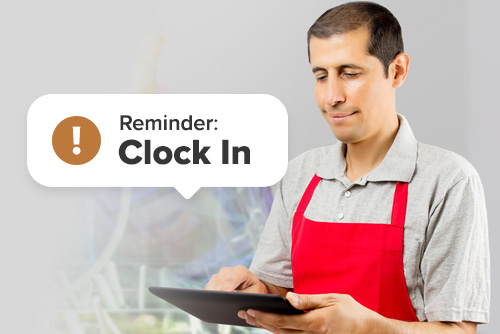 How to remind employees to clock in and out